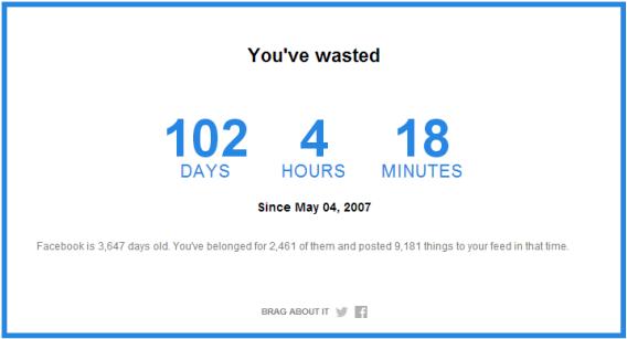 Combien de temps je consacre à Facebook