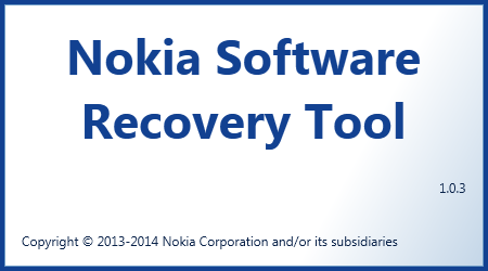Tela de carregamento do Nokia Software Recovery Tool