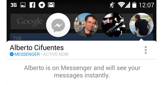 Avatar dos contatos disponíveis para uma conversinha