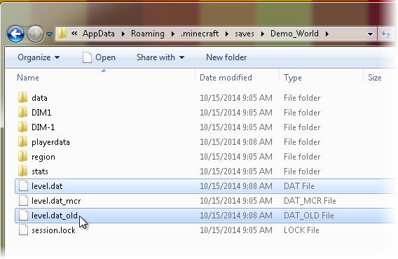 Fichiers de la démo