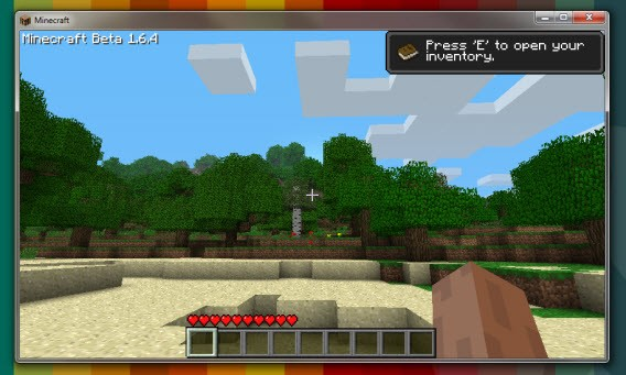 Minecraft Beta 1.6.4 dans Demo Launcher