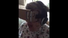Así reacciona esta adorable abuela al probar la realidad virtual por primera vez