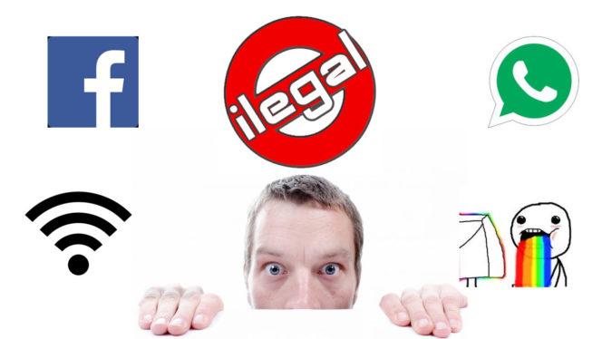 Cosas ilegales que tal vez haces en Internet sin notarlo