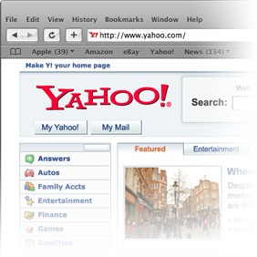 Safari interface in Windows