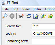 EF Find screenshot