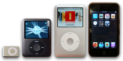 The full iPod line