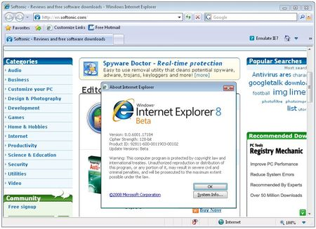 Internet Explorer 8 beta review