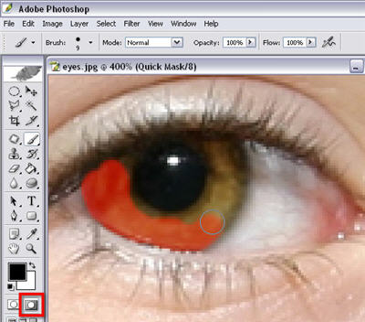 change eye color in Photoshop