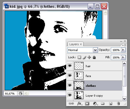 Andy Warhol effect Photoshop tutorial