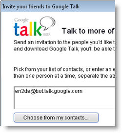 Automatic translations in Google Talk