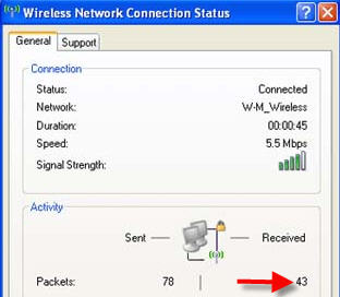 Data packets screenshot