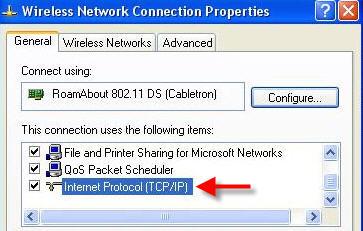 TCP screenshot
