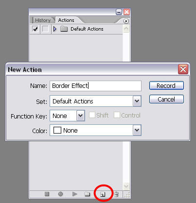 How to: create Photoshop actions