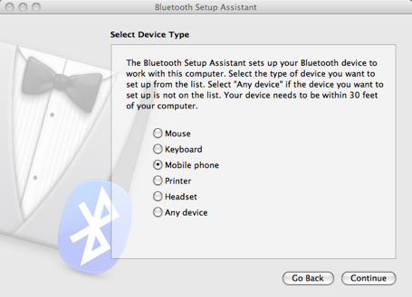 Bluetooth screenshot 1
