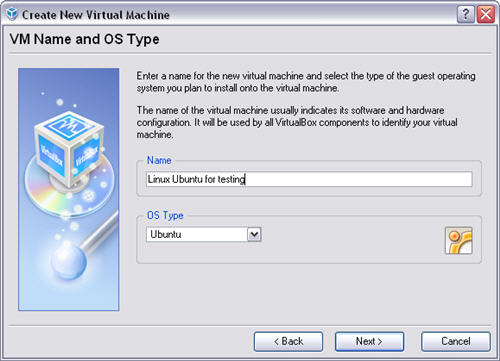 New operating system on VirtualBox with ISO file