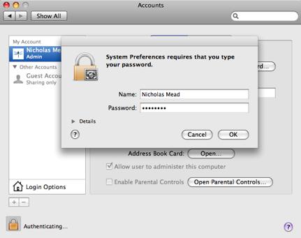 Account unlock