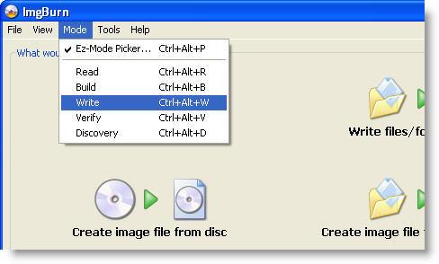 Burn an audio CD with ImgBurn