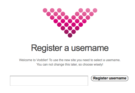 Voddler register