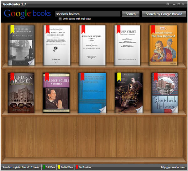 GooReader, a better interface for Google Books