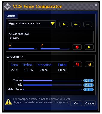 VCS Voice Comparator