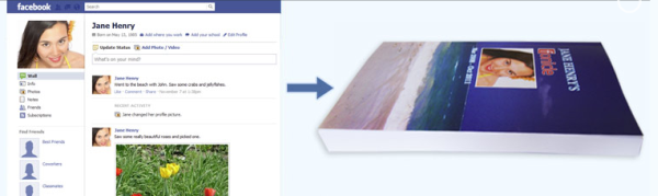 Turn your Facebook profile into a book