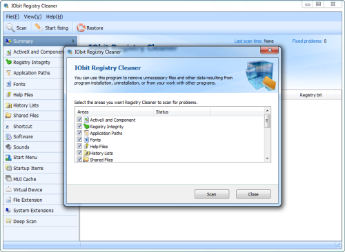 iobit advanced systemcare with antivirus registry cleaner