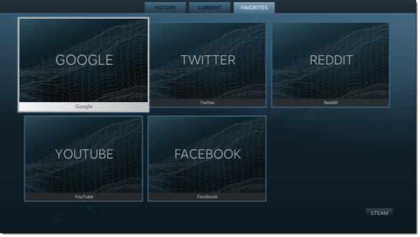 Steam big picture browser