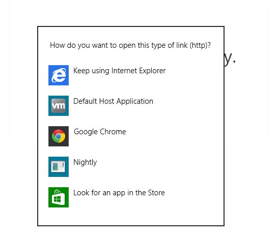 choose default browser google chrome windows 8