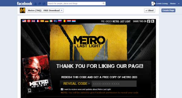 metro 2033 facebook page
