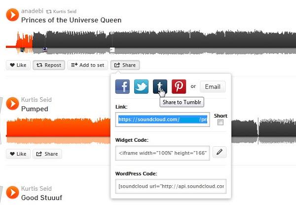 Copying Soundcloud tracks