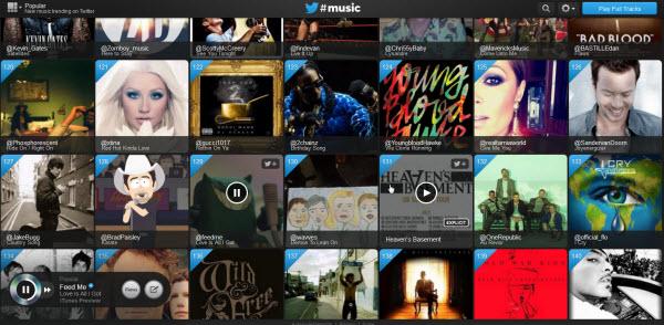 Pannello di Twitter #Music