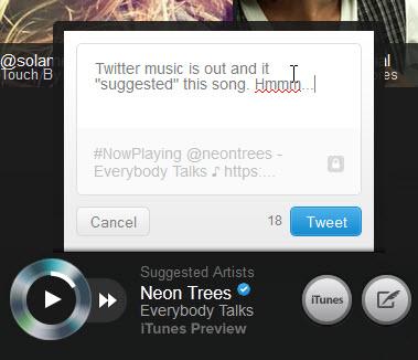 Player di Twitter #Music