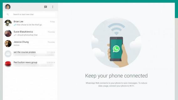 WhatsApp for Web header