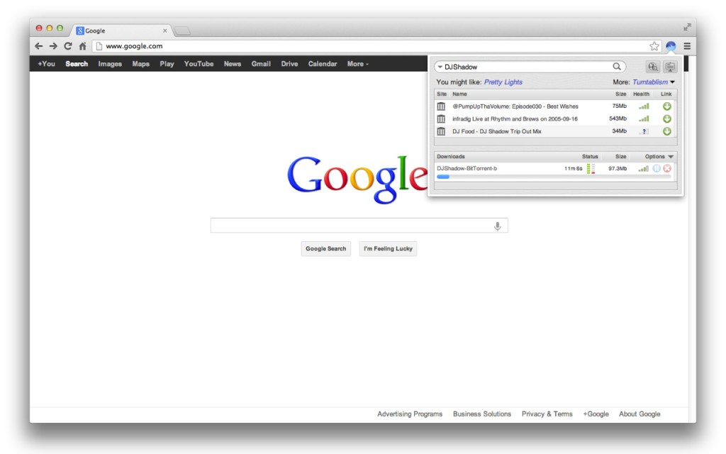 BitTorrent Surf Chrome