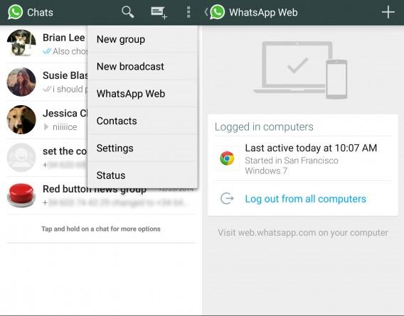 WhatsApp Web Android setup