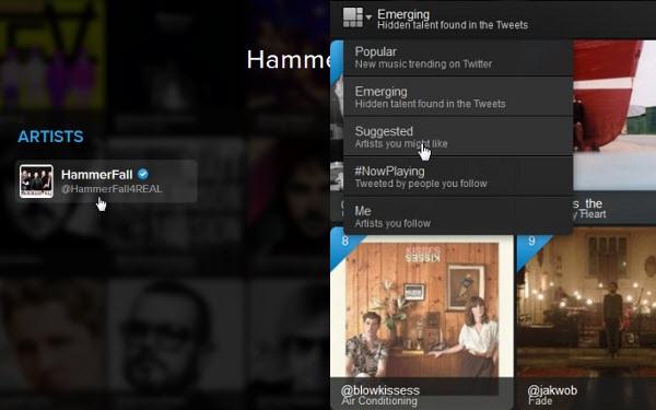 Filtri di Twitter #Music