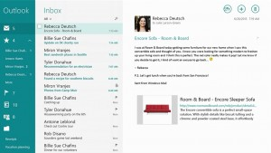 """Build 2013: Outlook for Windows 8.1 lets you """"sweep"""" away annoying emails"""