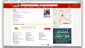 Yelp updates with food pickup or delivery