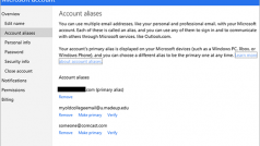 Outlook.com now lets you choose any alias as your primary account