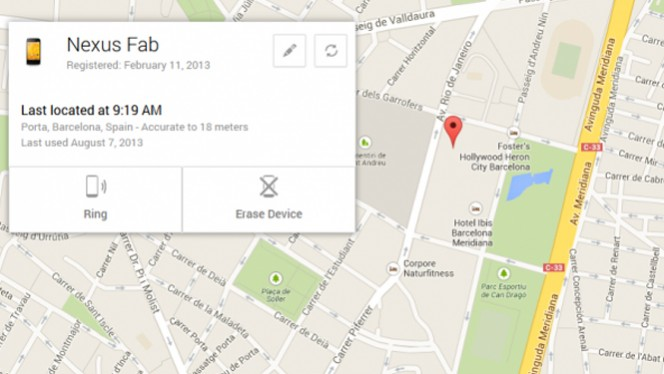 Use Android Device Manager to locate your device