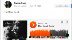 Google+ now supports SoundCloud embedding