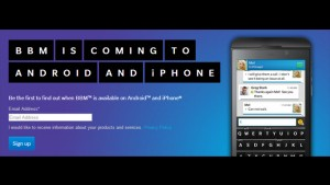 BlackBerry Messenger for Android gets shown on video