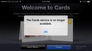 Apple quietly shelves iOS Cards app