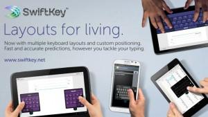 SwiftKey update features custom keyboards