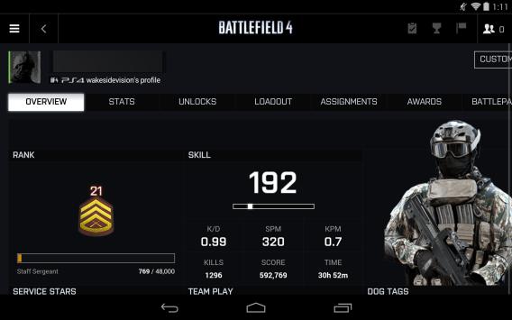 Battlefield 4 Battlelog Android