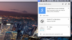 Google Now appears in Chrome alpha