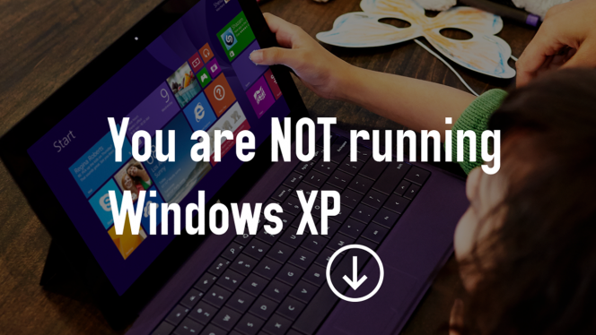 Microsoft answers your question: Am I running XP?