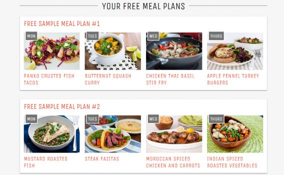 A meal planning service