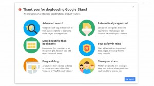 """Google Stars"" is Chrome's new bookmarking feature"