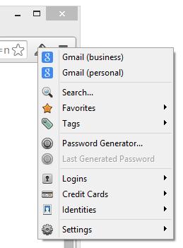 1Password extension